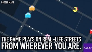 Google Maps turns into Ms. Pac-Man for April Fools' Day Free HD Video