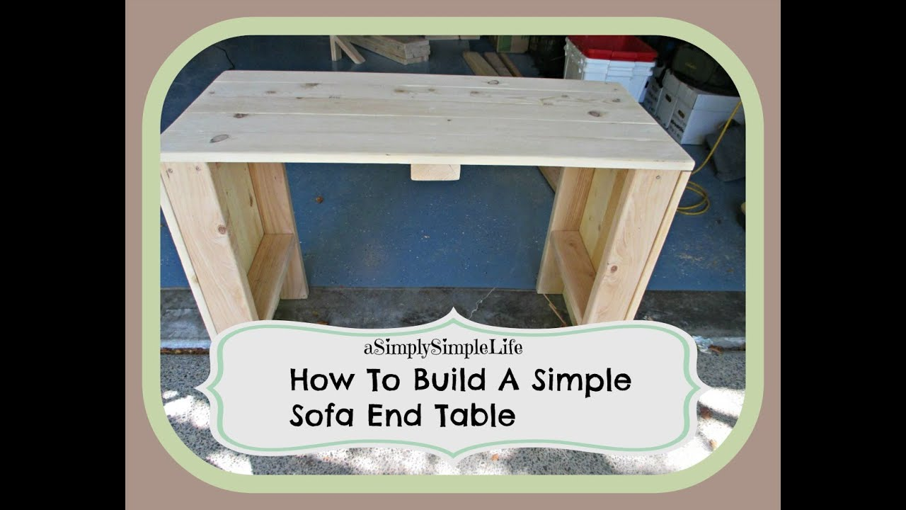 making your own sofa table bed for small room how to build a simple end asimplysimplelife
