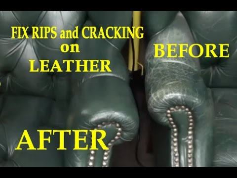 Fix Rips And Cracking On A Leather Chair Youtube