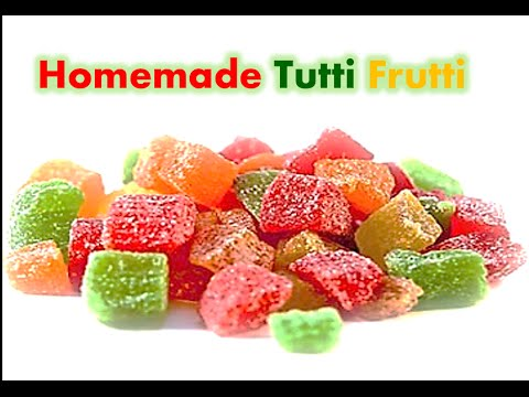 Homemade Tutti Frutti   Candied Fruit   Fruit Cake Mix   Simple and Easy to make by RinkusRasoi
