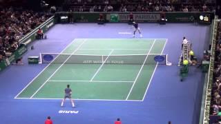 Roger Federer vs Juan Martin Del Potro Paris 2013 Highlights
