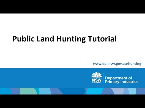 NSW Public Land Hunting Tutorial For Restricted Licence Holders