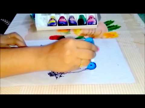 Glass Painting On Ohp Sheet Youtube