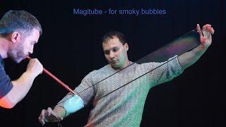 Реквизит для шоу мыльных пузырей. Трубка «Magitube». Дымные пузыри
