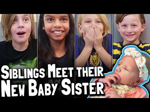 Baby Daisy Coming Home From The Hospital Part 2 Of 2: Kids Siblings React To New Preemie Baby Sister