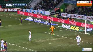 Video Gol Pertandingan Elche vs FC Barcelona