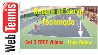 Tennis Return of Serve Technique - What are you really looking at?