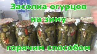 Засолка огурцов на зиму горячим способом двойной заливки без стерилизации