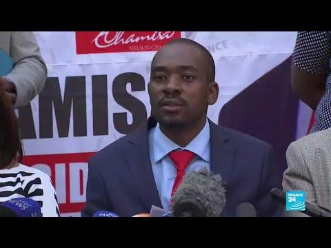 Présidentielle au Zimbabwe : Chamisa rejette la victoire de Mnangagwa
