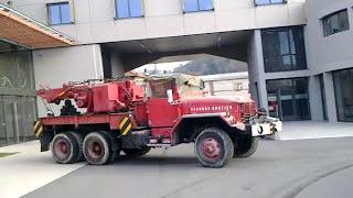 Camion de Pompiers ex-militaire US, REO-M 35 6x6, Depanneuse Lourde 1950 caserne de Vienne