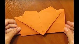 Подарочный конверт Своими руками. Как сделать конверт из бумаги своими руками.  Оригами из листа.