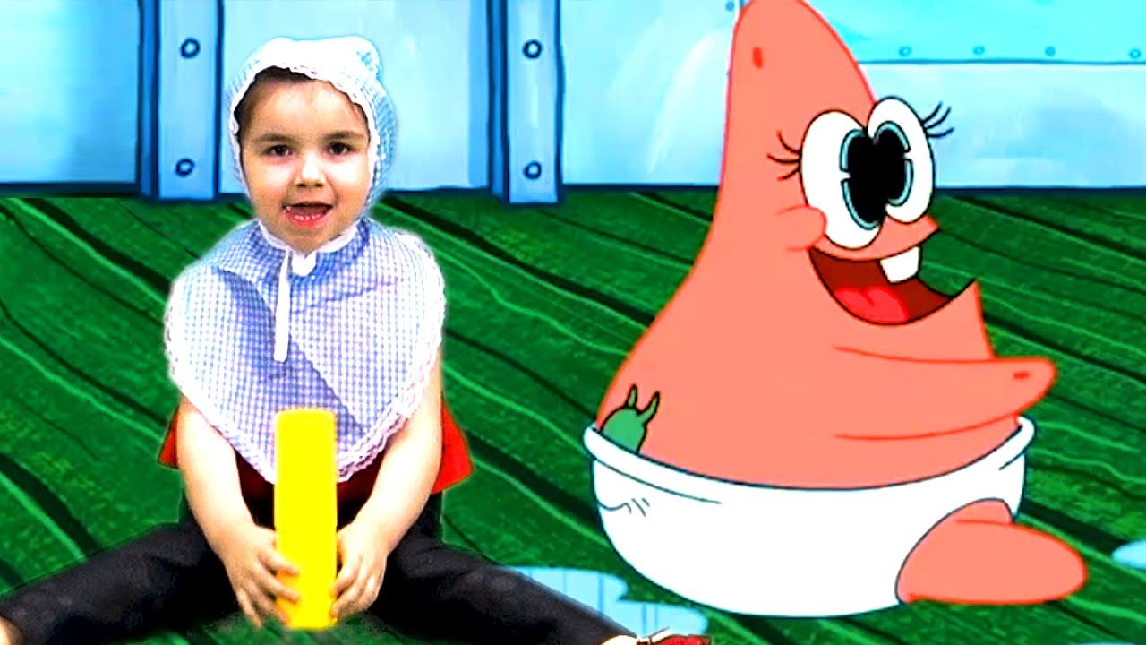 SpongeBob and Patrick Babies 👶 Goo Goo Gas with Dominika In Real Life
