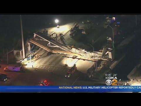 Death Toll Raised To 6 In Florida Pedestrian Bridge Collapse