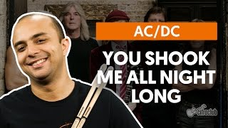 You Shook Me All Night Long - AC/DC (aula de bateria)