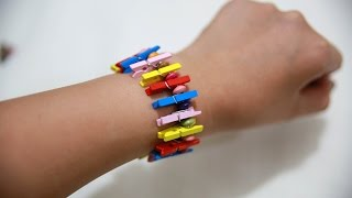 Make A Fancy Wood Clothespin Bracelet - Diy Style - Guidecentral