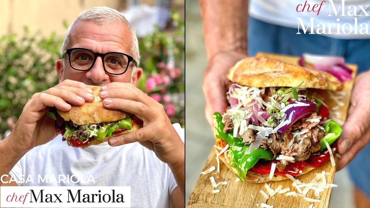 PASTRAMI (italiano) PANINO con STRACCETTI e FORMAGGIO - Chef Max Mariola