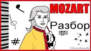 МОЦАРТ Разбор МАЛЕНЬКАЯ НОЧНАЯ СЕРЕНАДА Как играть Ноты MOZART A little night music HOW TO PLAY Note