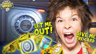 TRAPPING ANGRY NOOB INSIDE VAULT WITH NO KEYCARD *GLITCH* ON FORTNITE! (Funny Fortnite Trolling)