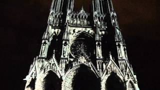 Rheims cathedral light show: Opening, dawn to dusk