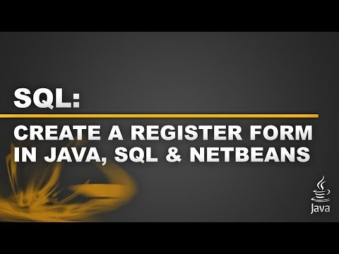 Getting Started with SQL Part 2 - Register Page in Netbeans
