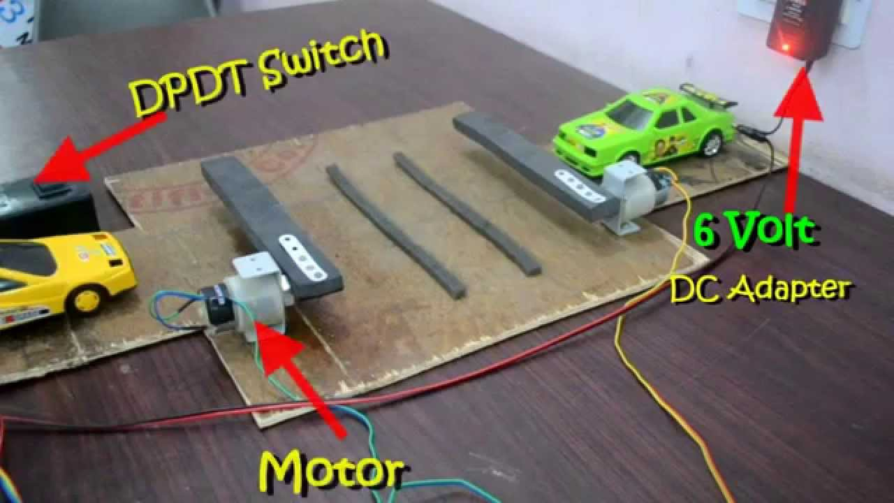 Railway crossing gate student project science model youtube for Model making with waste material