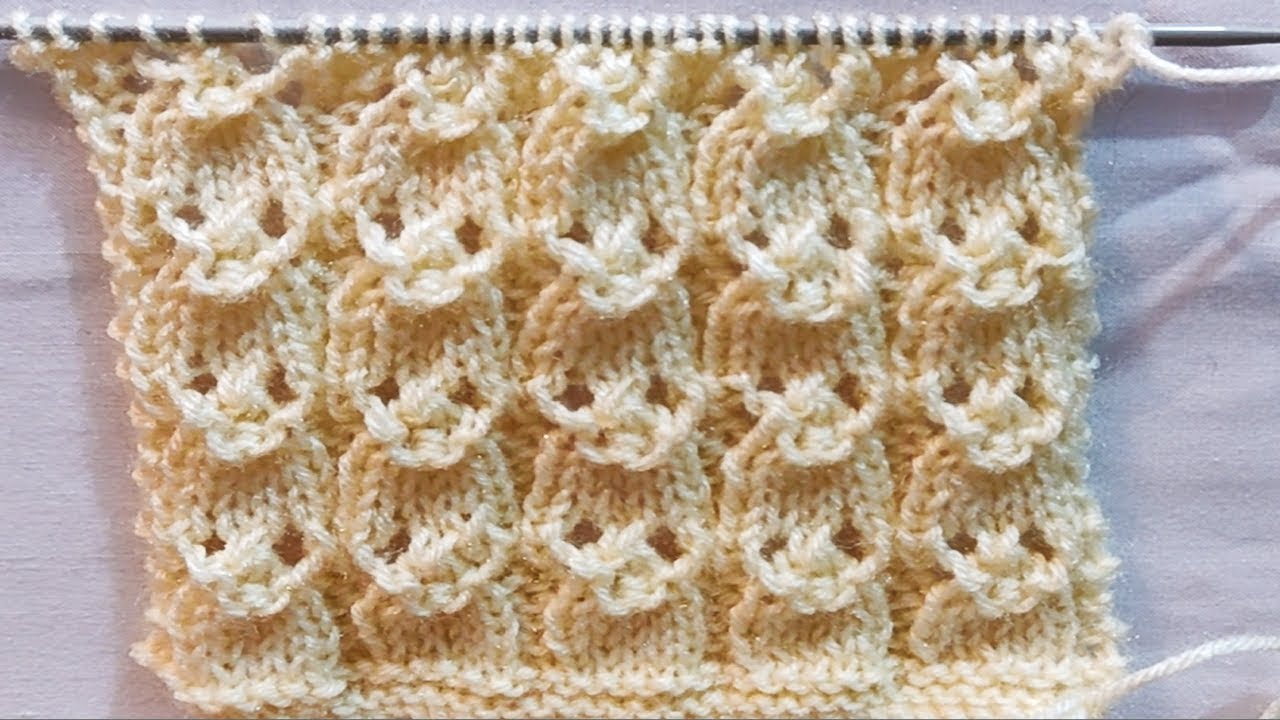 Very Easy and Lovely Knitting Design || Single Colour ...