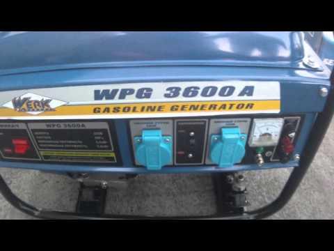 Генератор бензиновый Werk WPG 3600A 2500 Вт