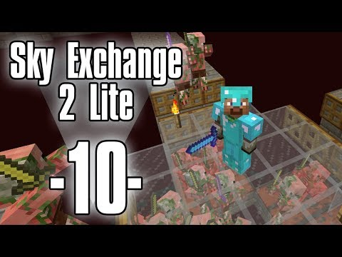 Dansk Minecraft - Sky Exchange 2 Lite #10 - Zombie Pigman farm (HD)