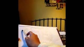 How to draw graffiti (Lily)!!!Xx