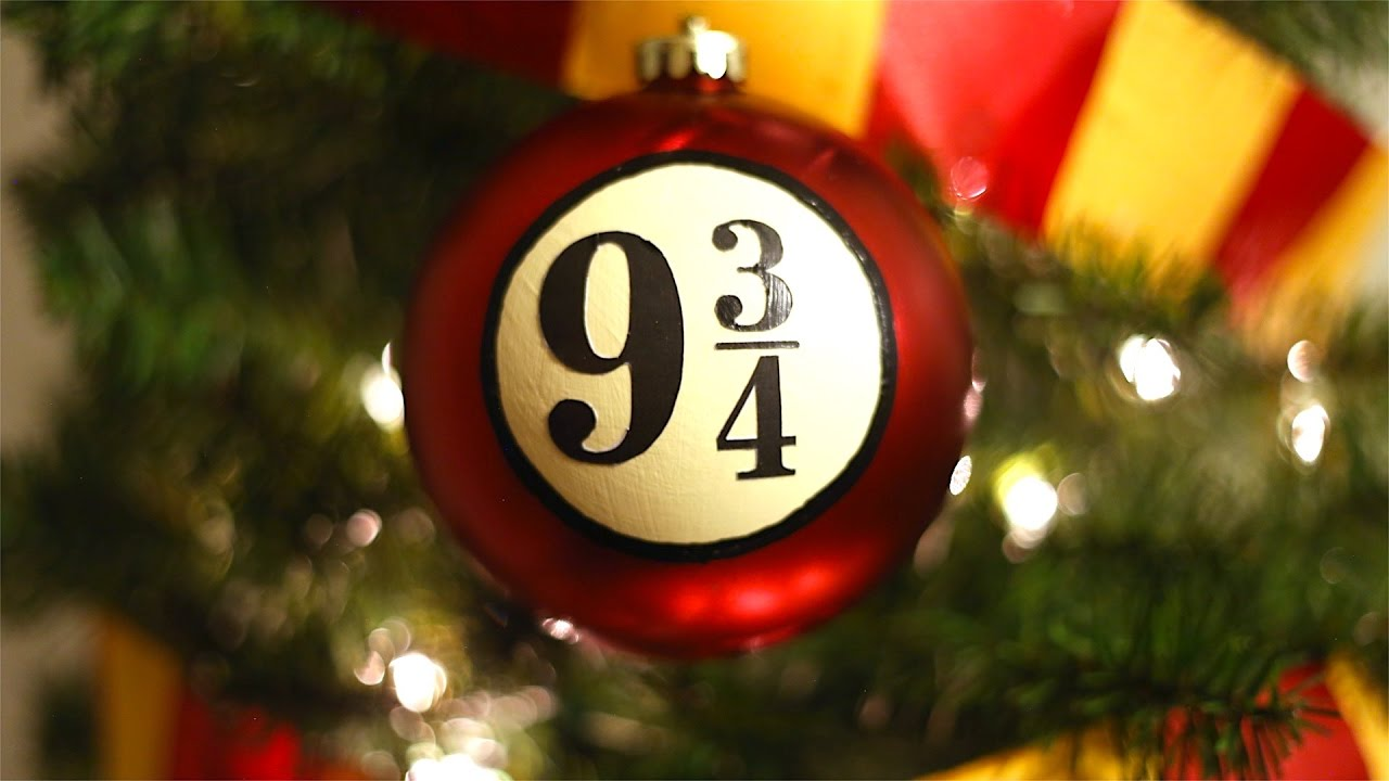 platform 9 34 christmas ornament harry potter christmas tree ornament youtube - Harry Potter Christmas Decorations