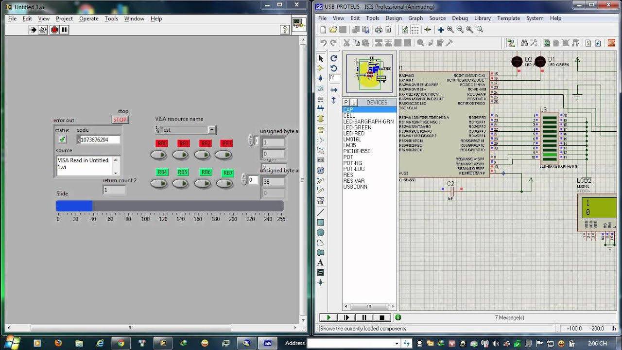 Pic Usb-CDC And Labview 2010