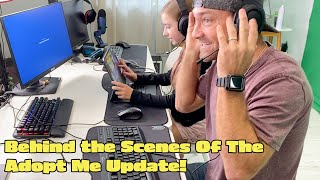 Behind The Scenes Of The Adopt Me Update!! Fossil Egg Reaction Vlog!