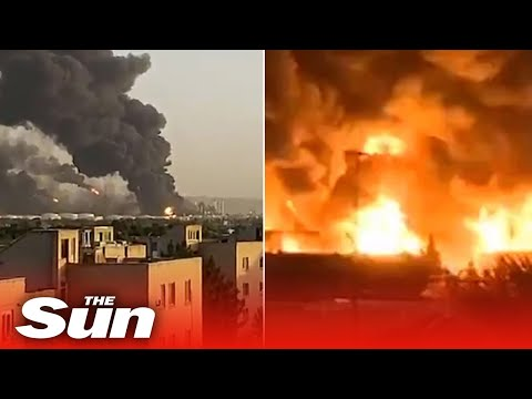 Explosion cripples Iran oil refinery hours after fire sinks its largest warship