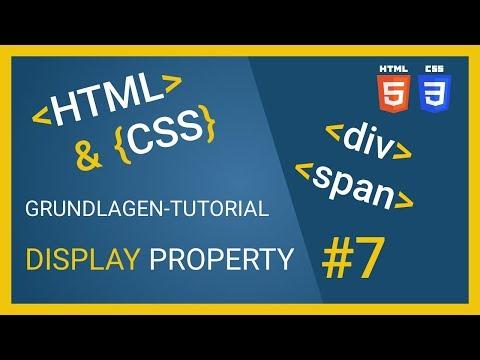 🔆 HTML & CSS Tutorial 2018 - Div, Span, Inline, Block Und Inline Block 🔆