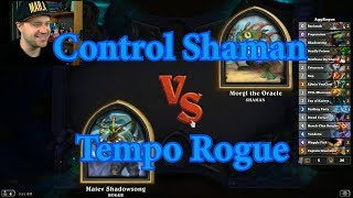 Tempo Rogue vs Control Shaman | Hearthstone