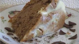 Бисквитный торт на сметане
