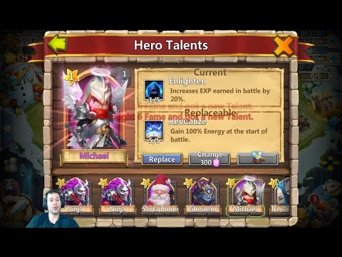 60000 Gems For Michael + Talents Great Session Castle Clash