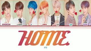 Lirik lagu home BTS