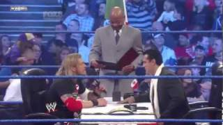 Christian returns to WWE Smackdown 3-4-11 - Edge vs Alberto Del Rio Contract Signing