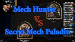 Secret Mech Paladin vs Mech Hunter | Hearthstone