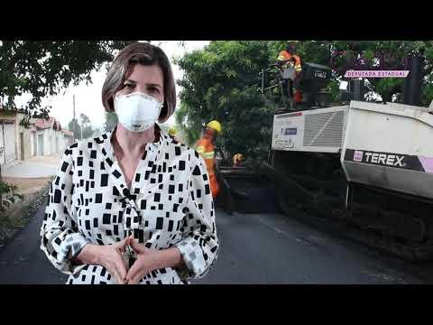 Delegada Graciela - Recapeamento de ruas no bairro Aeroporto em Franca