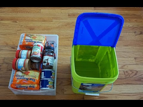 Dollar Tree Food Prepping on a Budget.  Easy Storage