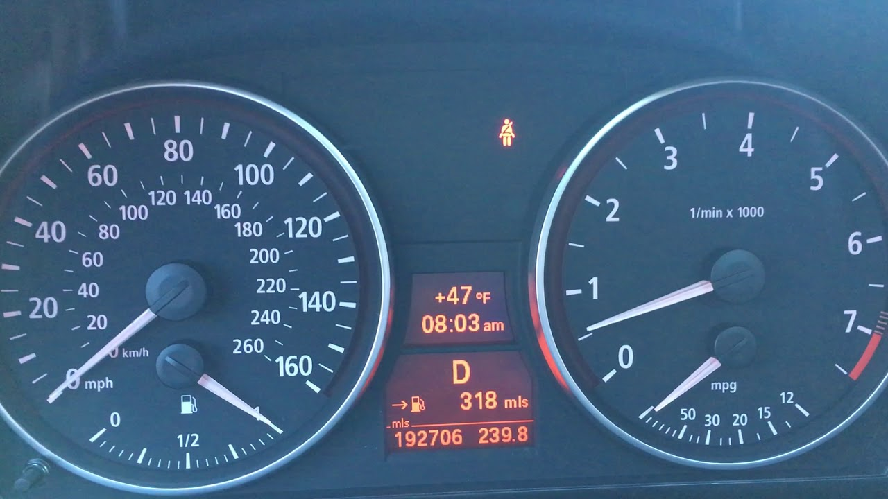 Rough idle on cold start E90