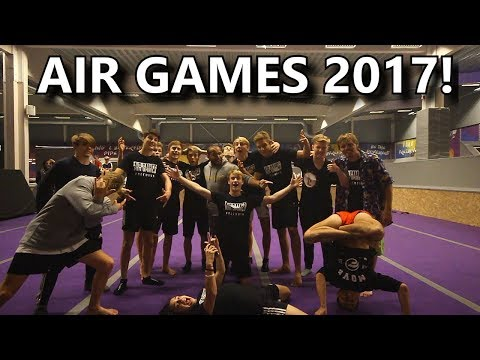MY FIRST EVER TRAMPOLINE CHAMPIONSHIP (Air Games 2017) l Part 1