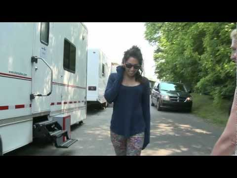 Meaghan Rath Day 1 on set of Being Human 3