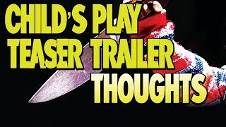 Our first look at MGM's remake of Child's Play is here, and it's a teaser trailer, nothing more. Let's talk about it!  Support The Channel On Patreon ➡️  https://www.patreon.com/DaveMcRae  Merchandise Shop:  ➡️  https://shop.spreadshirt.ca/mcraeexpress  Follow me on Facebook:  ➡️  https://www.facebook.com/ManyThingsDaveMcRae  Website:  ➡️  http://www.thevoicemann.com/  IMDb: ➡️  http://www.imdb.com/name/nm2247687/?ref_=rvi_nm  Twitter:  ➡️  https://twitter.com/thevoicemann?lang=en