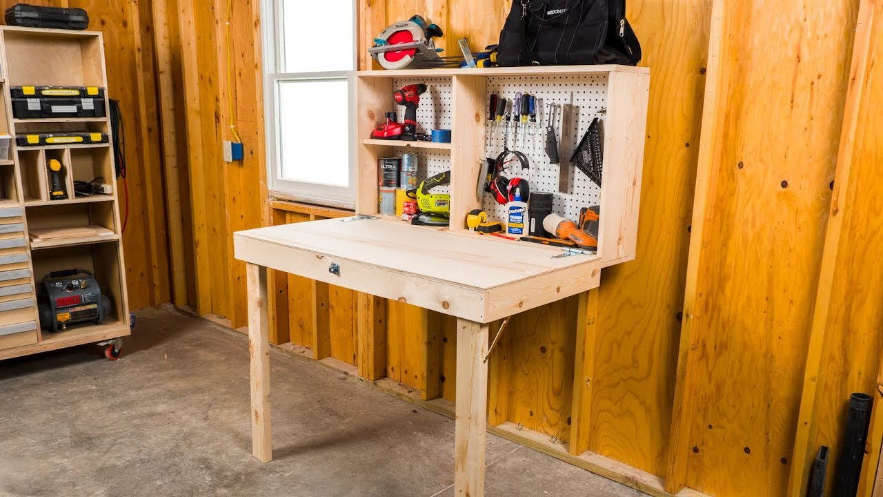 Diy Fold Up Workbench Saturday Morning Workshop Youtube