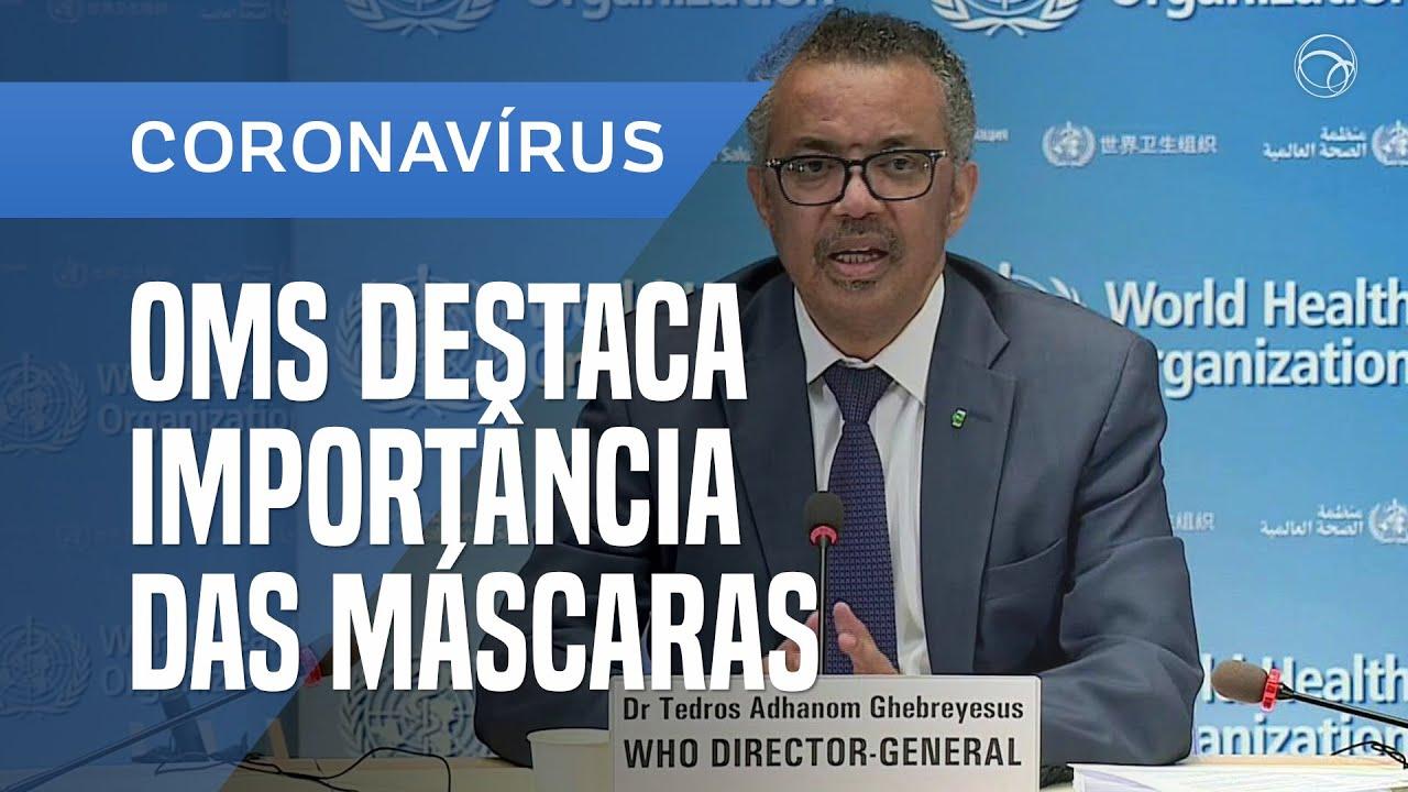 OMS DESTACA IMPORTÂNCIA DO USO DAS MÁSCARAS CONTRA A COVID-19 - online