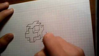 How to draw 3D cross