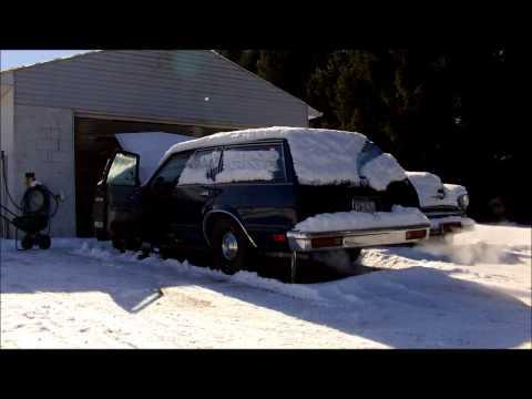 1979 Chevy Malibu Wagon 350 Snowy Old Start / Cold Start